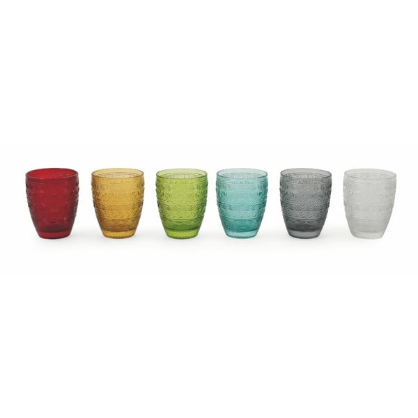 Sada 6 farebných pohárov Villa d'Este Mexico, 280 ml