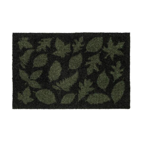 Tmavě zelená rohožka tica copenhagen Leaves, 40x60 cm