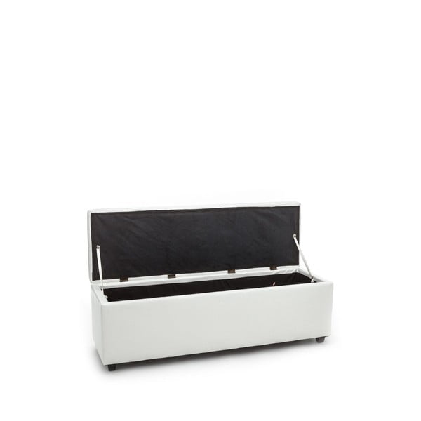 Bílá lavice s úložným prostorem Tomasucci Nice
