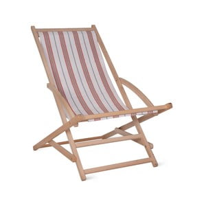 Zahradní lehátko Garden Trading Rocking Deck Chair Coral Stripe