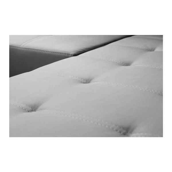 Světle šedá rozkládací pohovka Florenzzi Fioravanti s lenoškou na pravé straně