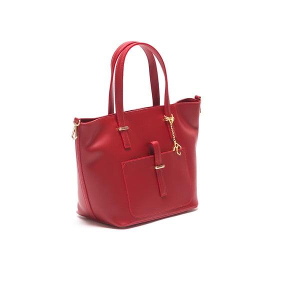 Kožená kabelka Thier 3005 Rosso
