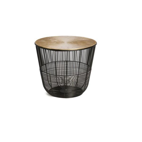 Circlem fekete dohányzóasztal, ⌀ 38 cm - Simla