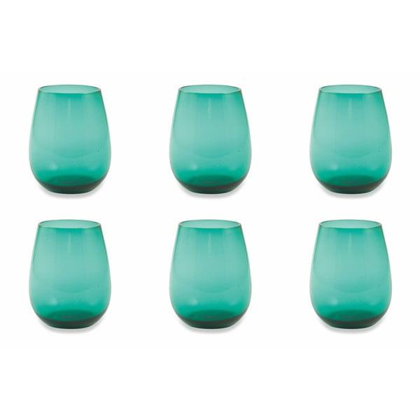 Happy Hour 6 db-os aquakék pohár készlet - Villa d'Este