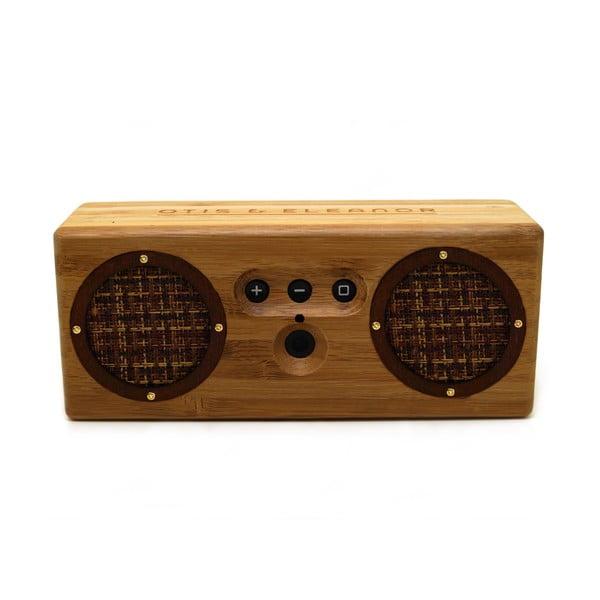 Přenosný bambusový speaker New York Brown