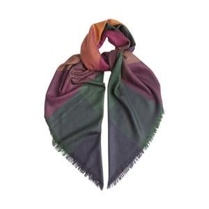 Šátek z kašmíru a hedvábí Hogarth Gradient Ginger, 120x120cm