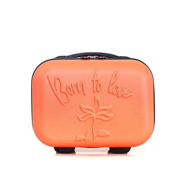 Oranžový kozmetický kufrík LPB Julianna, 10,3 l