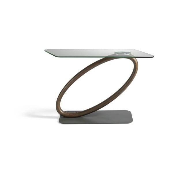 Odkládací stolek ze dřeva ořešáku a skla Ángel Cerdá Messe