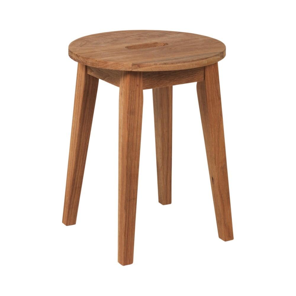 Přírodní nízká dubová stolička Folke Frigg