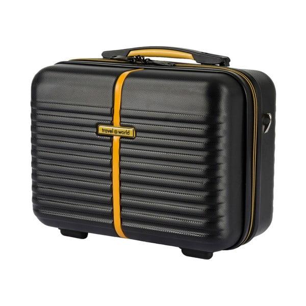 Černý kosmetický kufřík Travel World, 17 l