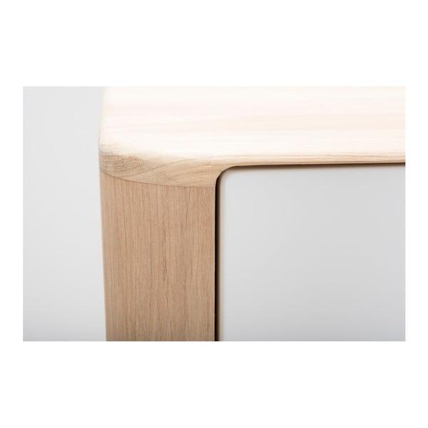 Vitrína s konstrukcí z masivního dubového dřeva se 4 zásuvkami Gazzda Ena, šířka60cm