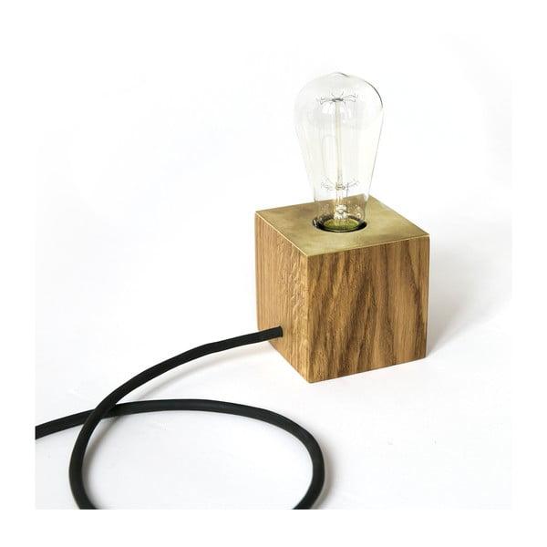 Stolní lampa NUTSANDWOODS Oak Brass