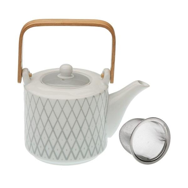 Čajová konvička z porcelánu se sítkem VERSA Diamond