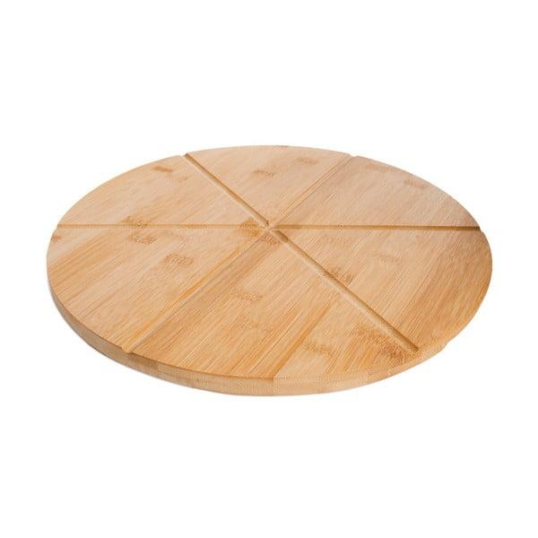 Bambusový podnos na pizzu Bambum Slice, ⌀ 35 cm