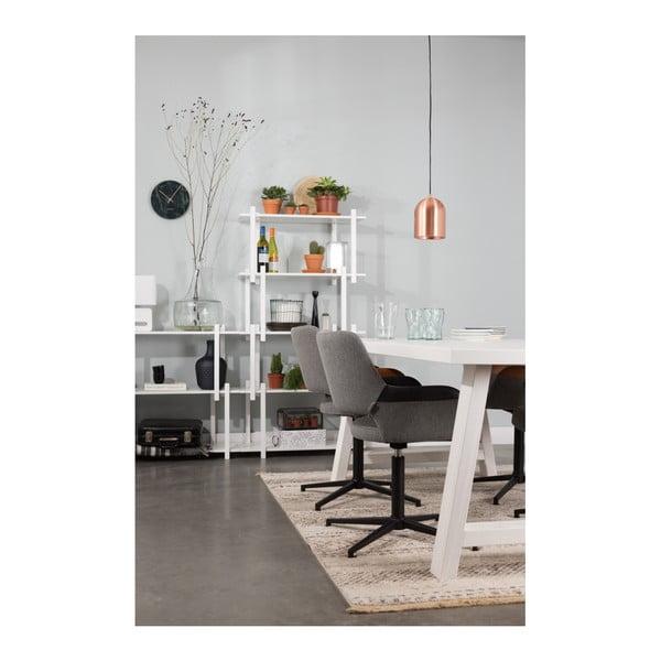 Šedá kancelářská židle s černým detailem Zuiver Syl