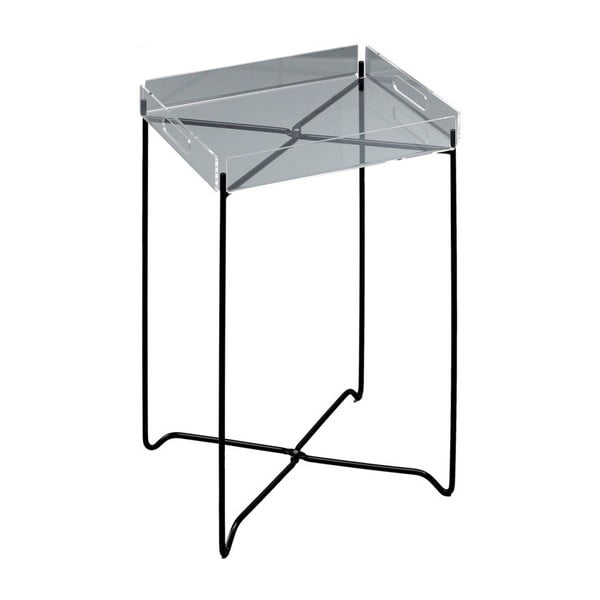 Măsuță auxiliară Design Twist Nagpur, gri-negru