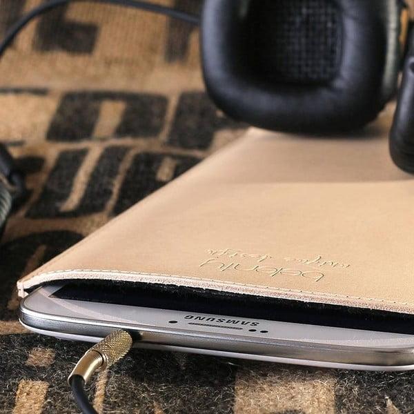 Kožený obal na tablet Samsung Galaxy 8.0 (Tab 3, 4) Cream