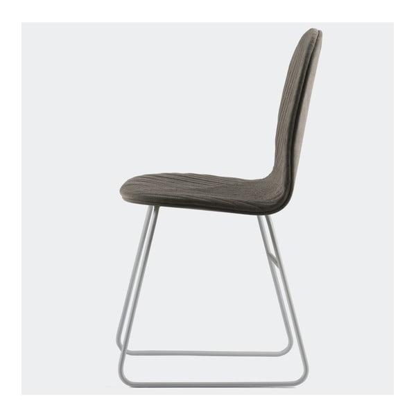 Židle Mannequin Metal, tmavě šedá