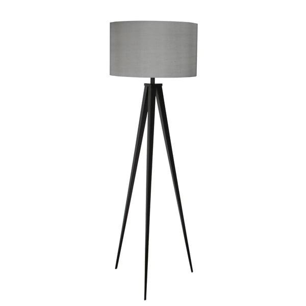 Černo-šedá stojací lampa Zuiver Tripod, ø 50 cm
