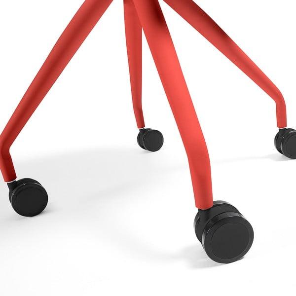 Sada 2 červených židlí na kolečkách La Forma Lars