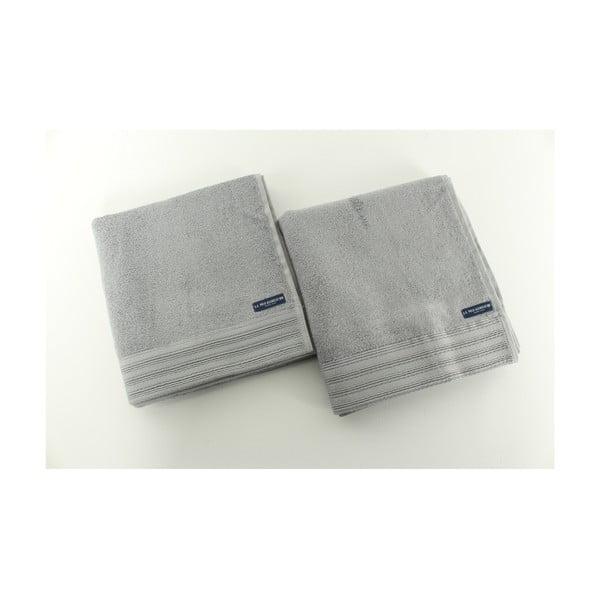 Sada 2 osušek U.S. Polo Assn. Los Angeles Grey, 50x100 cm