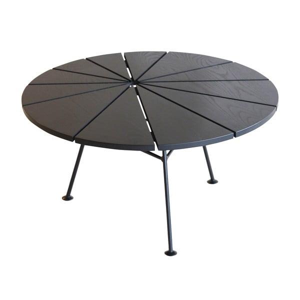 Odkládací stolek Bam Bam, černý, průměr 70 cm