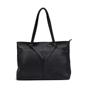 Černá kožená kabelka Anna Luchini Layo