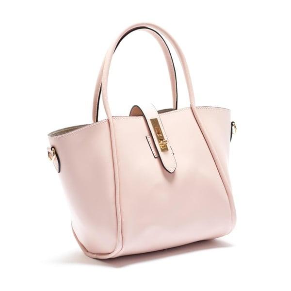 Kožená kabelka Mangotti 3039, růžová