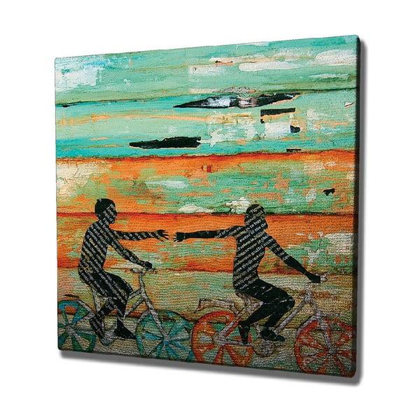 Tablou pe pânză Bike Trip, 45 x 45 cm