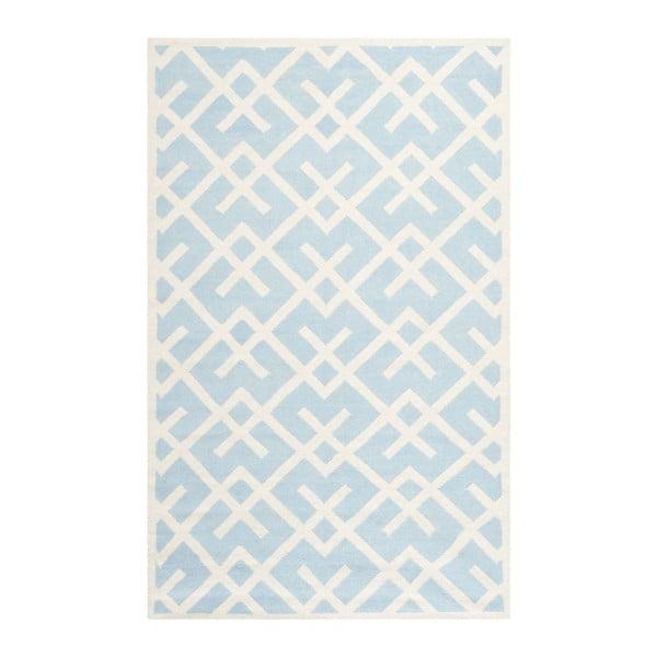 Vlněný koberec Safavieh Marion, 182x274 cm, světle modrý