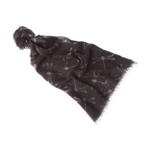 Šátek Damselfly Grey, 180x70 cm
