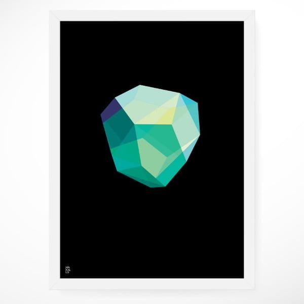Plakát Emerald Black, 50x70 cm
