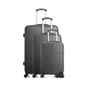 Sada 3 tmavě šedých cestovních kufrů na kolečkách Hero Coronado