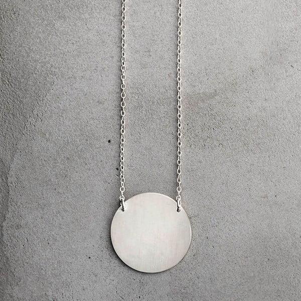 Náhrdelník Disk Silver z kolekce Geometry