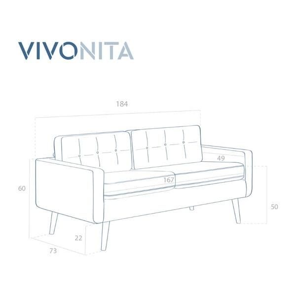 Růžová trojmístná pohovka Vivonita Ina