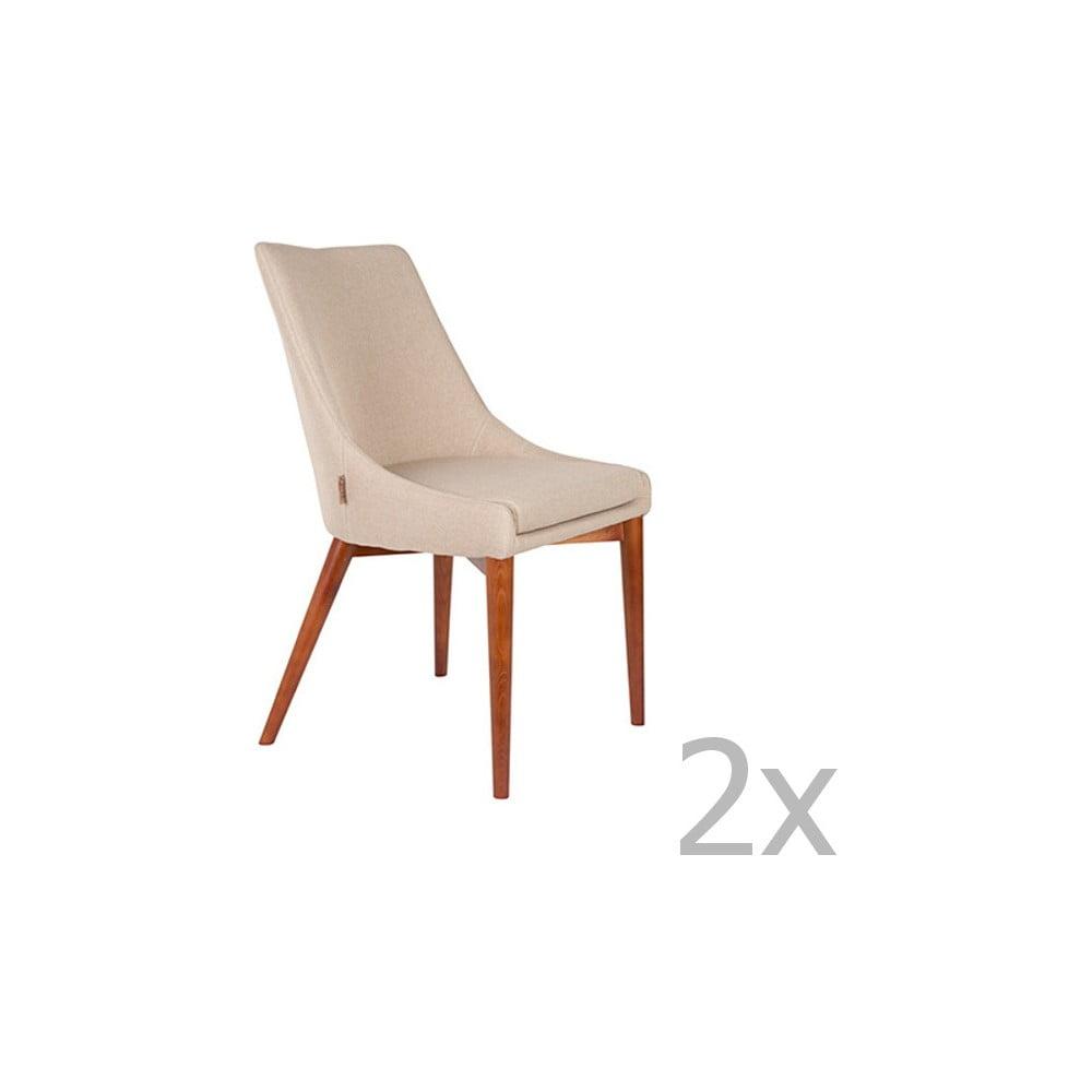 Sada 2 khaki zelených židlí Dutchbone Juju