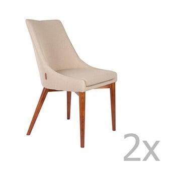 Set 2 scaune Dutchbone Juju, kaki de la Dutchbone