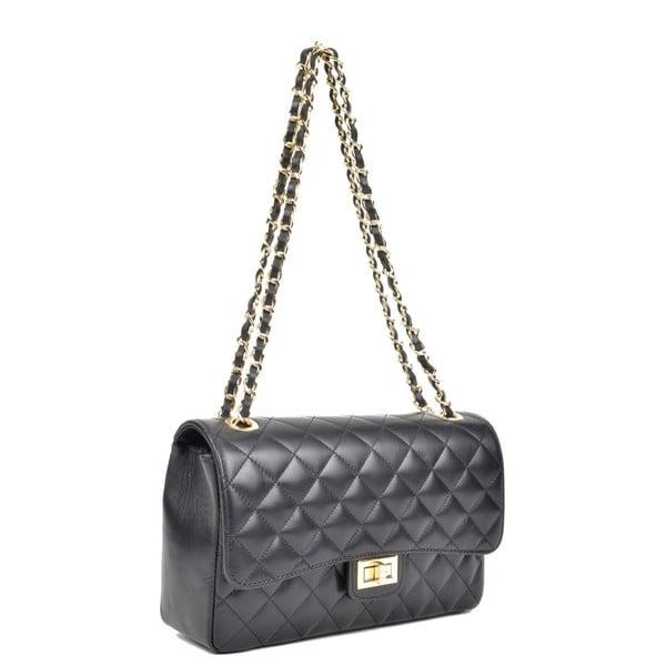 Černá kožená kabelka IsabellaRhea Milady