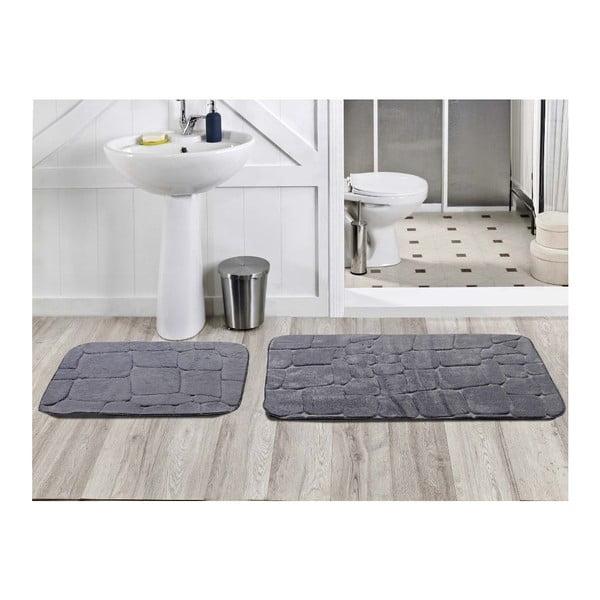 Sada 2 koupelnových koberečků Dekoreko Gri, 50x60 cm + 60x100 cm