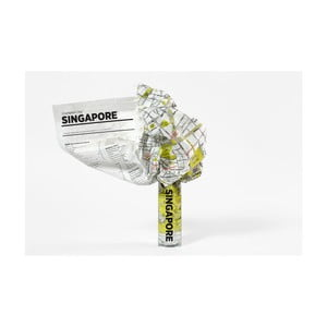Zmačkaná cestovní mapa Palomar Singapore