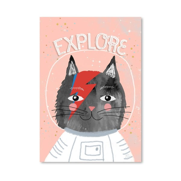 Plakát od Mia Charro - Cat Astronaut