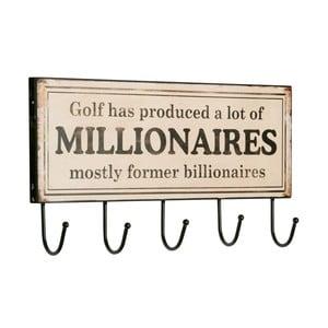 Věšák Millionaires, 15x45x2 cm