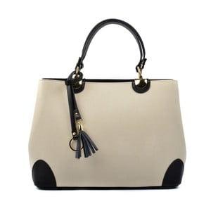 Béžová kožená kabelka s černými detaily Isabella Rhea Mismo