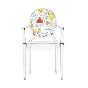 Dětská transparentní židle Kartell Lou Lou Ghost Family House