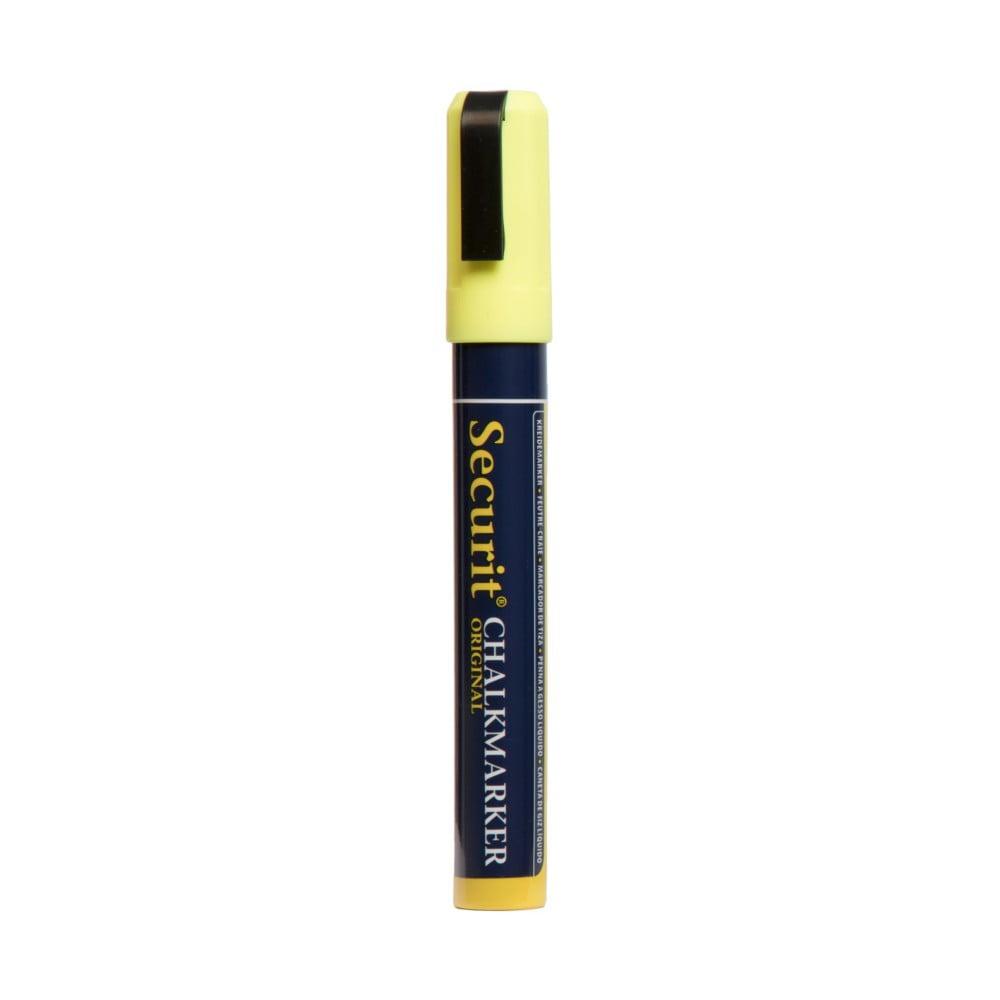Žlutý křídový popisovač na vodní bázi Securit® Medium Lino
