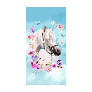 Plážová osuška s potiskem Good Morning My Beauty, 150 x 75 cm