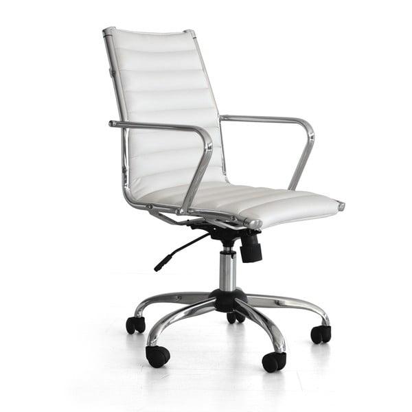 Pracovní židle na kolečkách Pandora, bílá