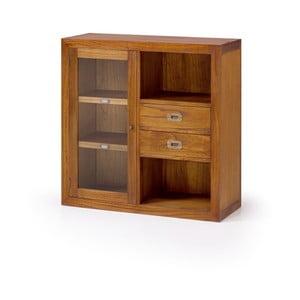 Skříňka ze dřeva mindi Moycor Star s prosklenou levou částí