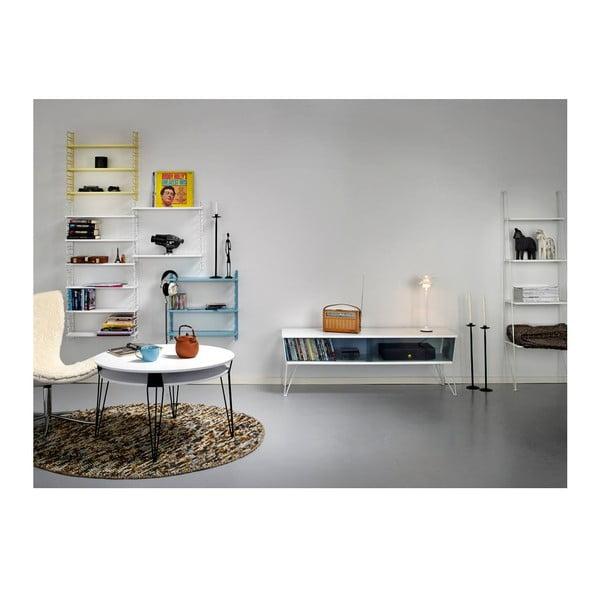 Bílý konferenční stolek s černými nohami RGE Ester, šířka 130cm