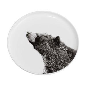 Dezertní talířek z kostního porcelánu Maxwell&Williams Marini Ferlazzo Black Bear, ⌀ 20 cm